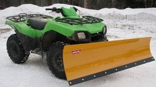 10. ATV to snow plow. Kawasaki Brute Force 650 with WARN blade, heated grips and block heater
