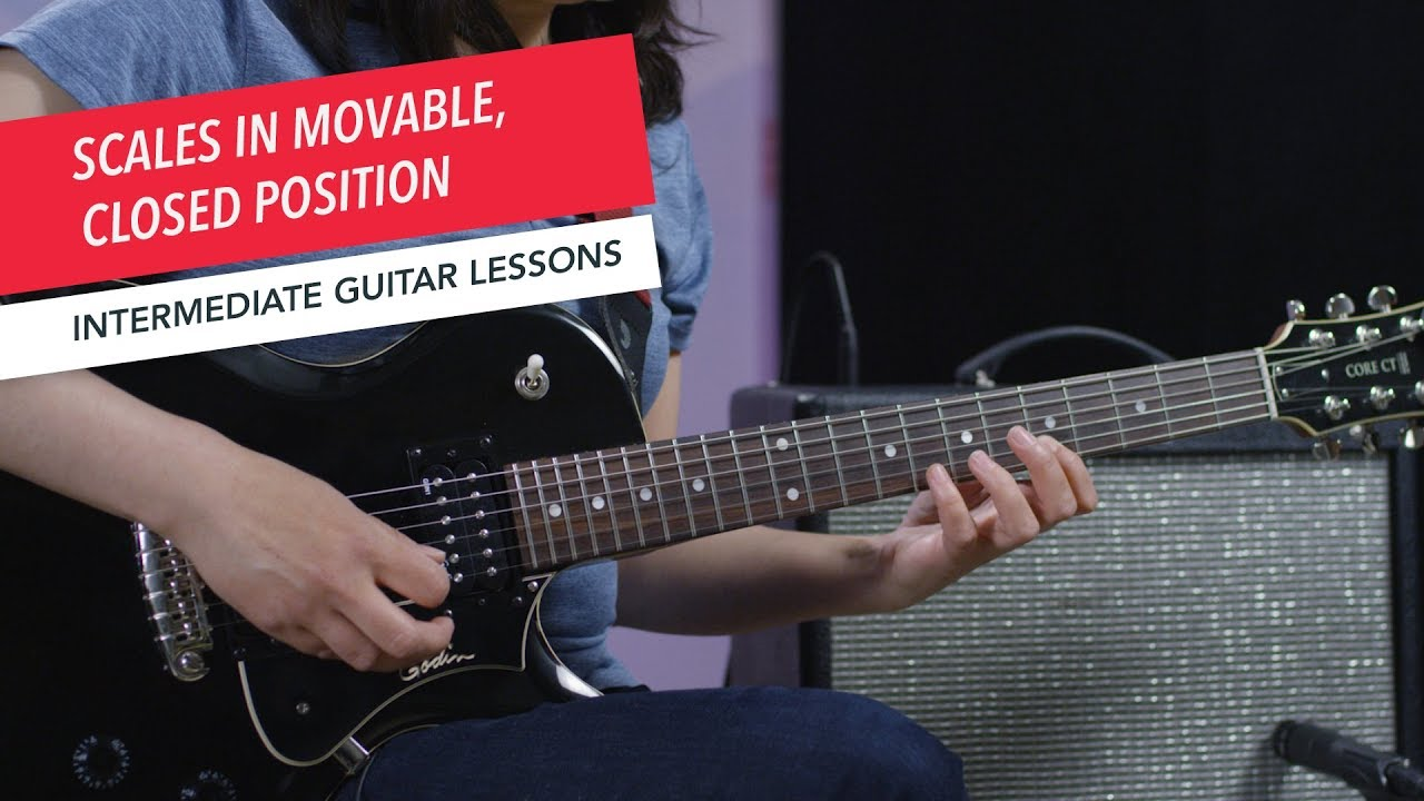 How to Play Guitar: Playing Scales in Movable Closed Position | Intermediate | Guitar Lessons