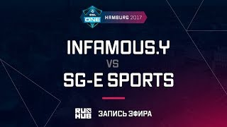 Infamous.Y vs SG-e Sports, ESL One Hamburg 2017, game 1 [Mortales]