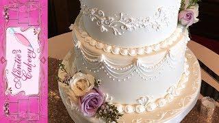 Video Spring Wedding Cake - Lambeth Over piping tutorial MP3, 3GP, MP4, WEBM, AVI, FLV November 2018