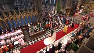 Kate Middleton walks the aisle