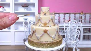 Video Miniature white chocolate Christmas Tree Decorations cake - mini food ASMR MP3, 3GP, MP4, WEBM, AVI, FLV Desember 2018
