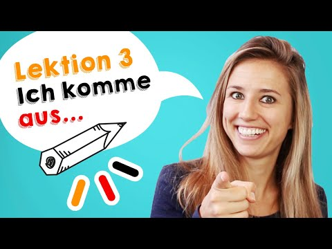 GERMAN LESSON 3: How to say \