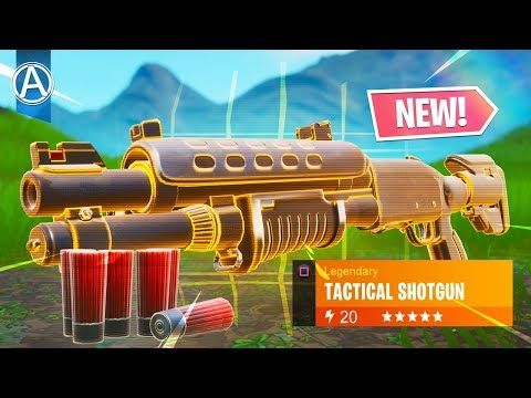 NEW LEGENDARY TACTICAL SHOTGUN Gameplay! // Use Code: ByArteer (Fortnite Battle Royale LIVE Update)