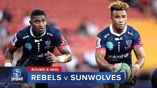 Rebels v Sunwolves Rd.8 2019 Super rugby video highlights | Super Rugby Video Highlights