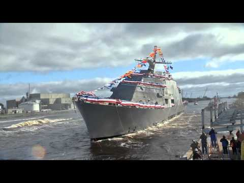 Launch - The Lockheed Martin-led industry team launched the nation's seventh Littoral Combat Ship into the Menominee River on Saturday, Oct. 18, 2014. The future LCS Detroit was formally christened...