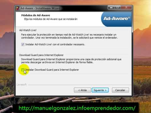 Video 2 de Ad-Aware: Instalación de Ad-Aware