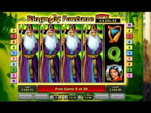 Rings of Fortune Slot - Huge Win - €2 Bet - Novomatic