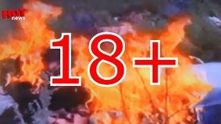 18+Видео с места крушения самолёта Боинг 777. 17.07.2014