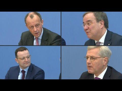 CDU: Merz, Röttgen und Laschet mit Spahn bewerben sich
