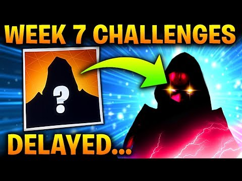Fortnite WEEK 7 CHALLENGES - ROAD TRIP SKIN DELAYED...