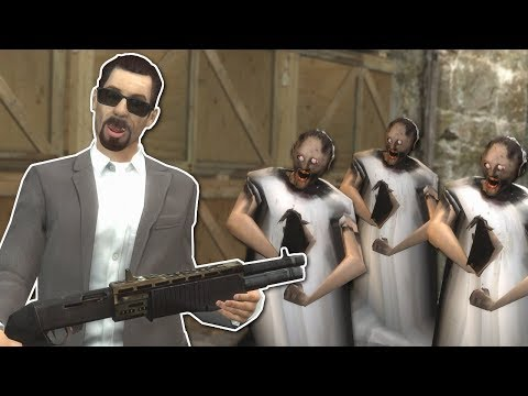 GRANNY ZOMBIE APOCALYPSE SURVIVAL? - Garry's Mod Gameplay - Gmod Zombie Survival (видео)