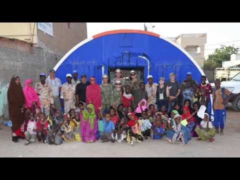 U.S. Navy #Sailors team up with Djiboutian soldiers and the Global Action Coalition to build shelters for a children's home in Djibouti City!
