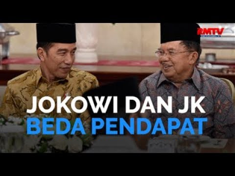 Jokowi dan JK Beda Pandangan
