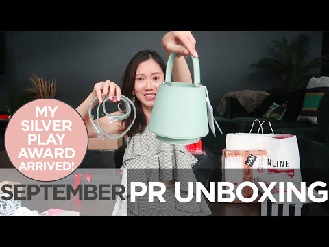 PR Unboxing (MY SILVER PLAY BUTTON ARRIVED!) | Camille Co