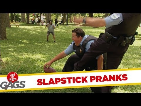Slapstick - In a hazy Sunday, what is the only thing better than eating munchies? Watching gags! Check out some of our best slapstick pranks - they will smoke you away! ...
