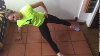 Flexión de cadera en plancha lateral
