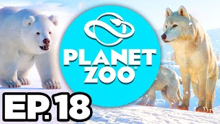 Planet Zoo: Arctic Pack Ep.18 - • EXPERIMENTING WITH TERRAIN FOR ARCTIC WOLVES! (Gameplay Lets Play)