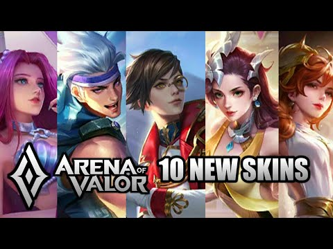 Arena Of Valor South Asia Server Upcoming 10 New Skins [Annette, Lauriel, Diaochan and More 🔥