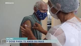 Começa vacina de idosos de 72, 73 e 74 anos em Bauru