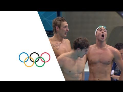 France Win Gold  In 4x100m Freestyle Relay Final | London 2012 Olympics