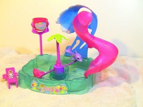 Polly Pocket Shimmer N Splash Adventure Park Playset Toy Color Change MATTEL