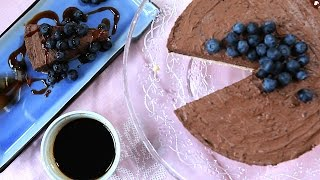 Cheesecake de chocolate sem forno