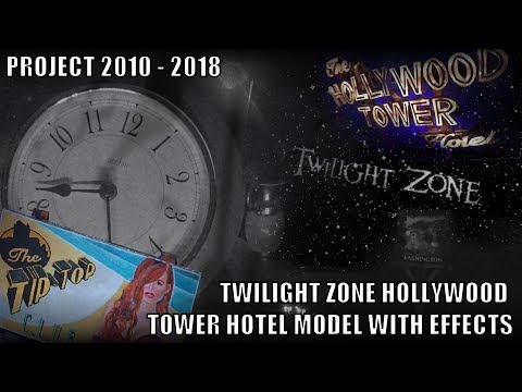 Twilight Zone - Tower Of Terror - Hollywood Tower Hotel Based Model