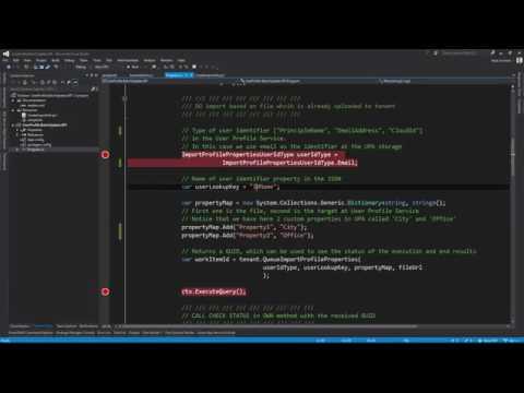 User Profile Bulk update API demonstration