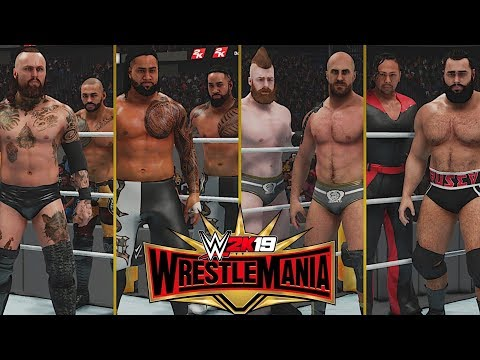 Wwe Wrestlemania 35: Fatal 4-way Smackdown Tag Team Championship Match!