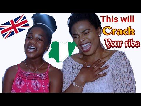 FUNNY BRITISH ACCENT VERSUS NIGERIA ACCENT  HILLARIOUS MUM & DAUGHTER