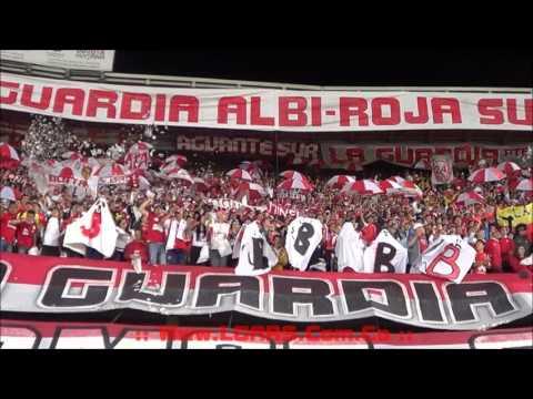 -Independiente Santa Fe Vs Independiente de Avellaneda - Cuartos de final Suramericana 2015 - - La Guardia Albi Roja Sur - Independiente Santa Fe