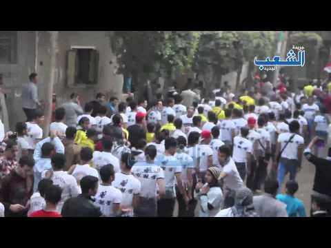 """""""أولتراس مصر سياسي"""" ينتفض بشوارع المنصورية ضد ظلم السيسي"""