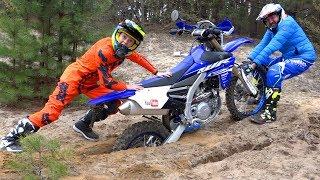 ЗАСТРЯЛИ в лесу…Папин МОТИК или мой ПИТ-БАЙК? Daddy's motorcycle or my pitbike?