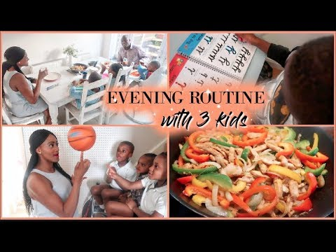 Evening Routine With 3 Kids | Sports Mum/mom +  Bible/devotional Time + Home Learning | Ad