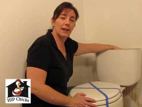 Flushed away! HIP Chicks', Beth Allen shows the basics of how to remove a toilet.  A little messy bu