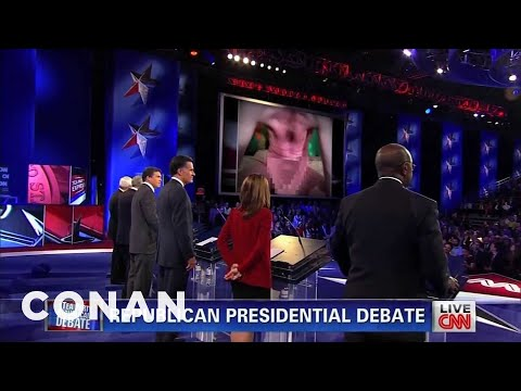 Conan - Skype Pervert Interrupts Tea Party Debate