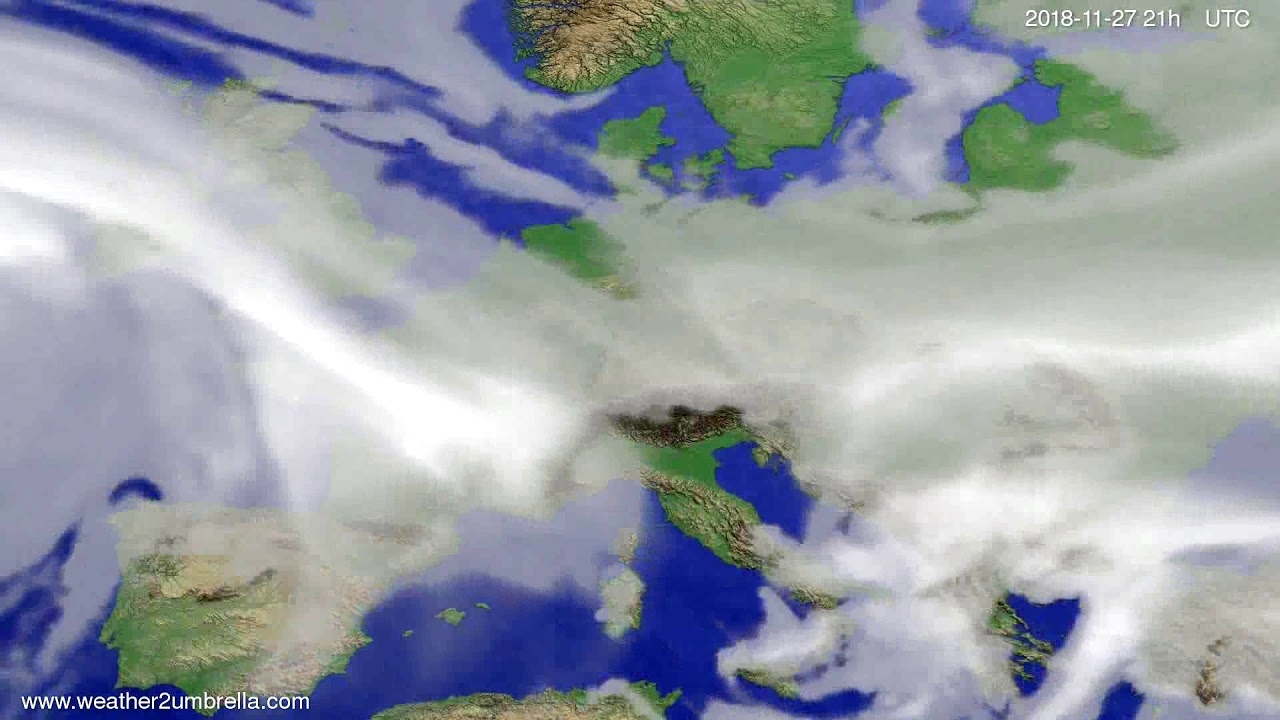Cloud forecast Europe 2018-11-24