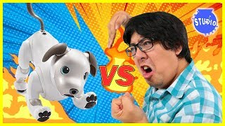 ROBO DOG AIBO VS. RYAN'S DADDY ! Who is the Better Robot Dog ?