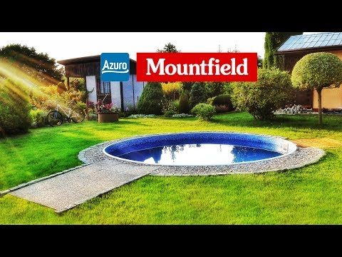 stavba bazénu mountfield / we are building a mountfield pool (видео)