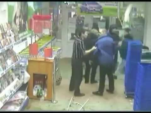 Brutal - cool website: http://veezee.tk/ The brutal fight in supermarket, Krasnoyarsk, Russia (fight) (Russian fight)