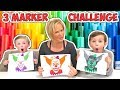 Download Video 3 Marker Challenge Halloween Edition with Chucky, Spooky Clown, and Billy the Puppet! | DavidsTV