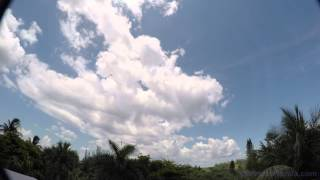 Sanibel Island, Florida 06-21-2015 Part 2 Time Lapse storm clouds