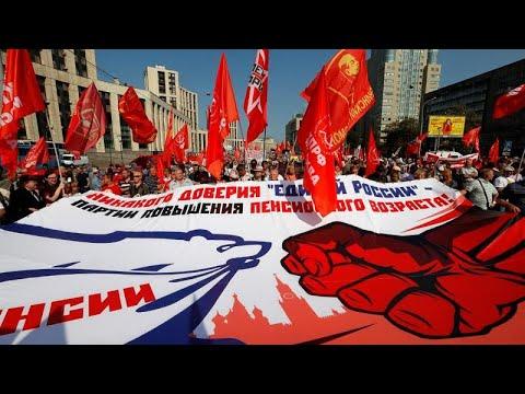 Στους δρόμους οι Ρώσοι για το συνταξιοδοτικό