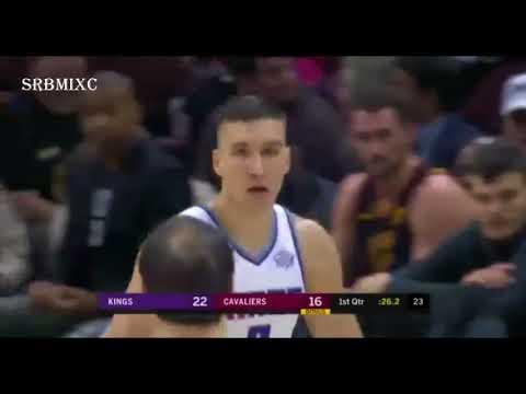 Bogdan Bogdanovic steal and 3 pointer   Cleveland Cavaliers vs  Sacramento Kings   6 12 2017
