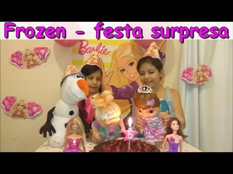 Video FESTA DE ANIVERSÁRIO FROZEN - ELSA E ANNA FAZEM SURPRESA PARA BABY ALIVE download in MP3, 3GP, MP4, WEBM, AVI, FLV January 2017