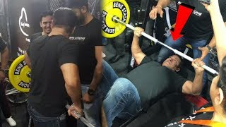Salman Khan Gym Workout at Being Human e cycle stall | 60 Bench Press in a Minuit
