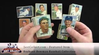 Boyhood Bowman Baseball Collection