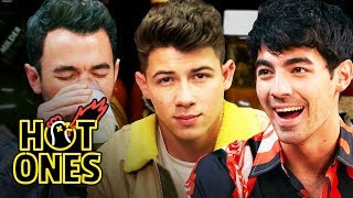 The Jonas Brothers Burn Up While Eating Spicy Wings | Hot Ones