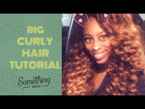 BIG CURLY HAIR TUTORIAL || WAND CURLS || LIFEASVKNOWSIT